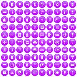 100 home icons set purple. 100 home icons set in purple circle isolated on white vector illustration stock illustration