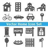 Home icons set. Real estate. Royalty Free Stock Images