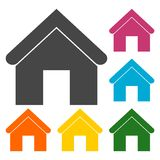 Home icons set. Vector icon royalty free illustration