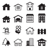 Home icons set Royalty Free Stock Photos