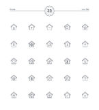 Home icons set, Vector illustration Royalty Free Stock Images