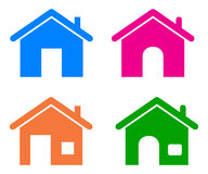 Home icons Stock Photos
