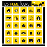 Home icons Royalty Free Stock Image