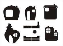 Home icons - vector Royalty Free Stock Photography