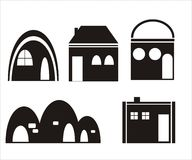 Home icons - vector Stock Photo