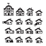 Home icons. Vector illustration. Home icons. author's illustration in Royalty Free Stock Photo
