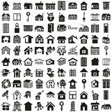 Home icons on white Royalty Free Stock Image