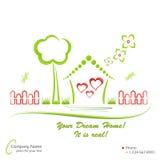 HOME ideal, ilustração do vetor Fotografia de Stock Royalty Free