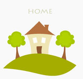 Home illustration Royalty Free Stock Images
