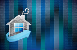 Home illustration design. Over a binary background Stock Images