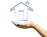 Home illustration för hand royaltyfri foto