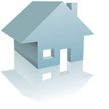 Home Illustration Residential House Reflection Royalty Free Stock Photography