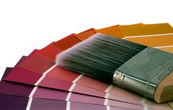 Home Improvement. House paint samples Stock Photos