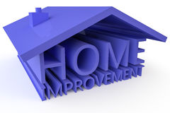 Home Improvement. The words Home improvement formed into the shape of a 3D house Royalty Free Stock Image