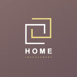 Home Improvement abstract logo. Home Interior remodeling Royalty Free Stock Images