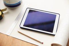 Home Improvement Application On Digital Tablet Stock Image