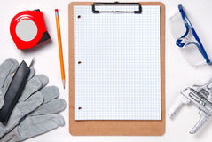 Home improvement clip board Stock Images
