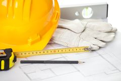 Home improvement concept - Construction equipments Royalty Free Stock Photo