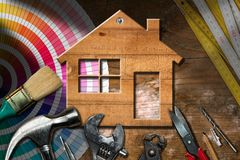 Home Improvement Concept - Work Tools and House Stock Images