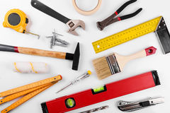 Home improvement diy construction tools on white Royalty Free Stock Photography