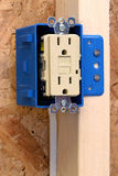 Home Improvement - Electrical. New installation of a ground fault circuit interrupter Stock Images