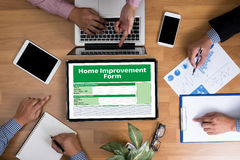 Home Improvement Form Personnel Details Home Stock Photography