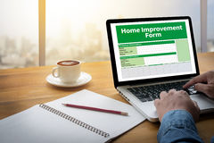 Home Improvement Form Personnel Details Home Royalty Free Stock Images
