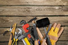 Home improvement. Work tool repairing construction carpentry construction material hammer royalty free stock photography