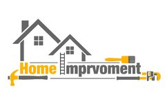 Home improvement icon. Vector illustration of home improvement icon on white background Royalty Free Stock Image