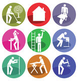 Home improvement icons. A set of home improvement and craftsmanship icons Royalty Free Stock Photo