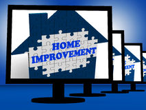 Home Improvement On Monitors Shows Home Design Shows Royalty Free Stock Photography