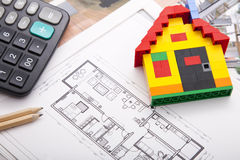 Home Improvement plan Royalty Free Stock Photos