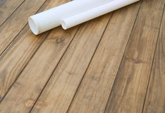 Home improvement plumbing pipes background Stock Photo