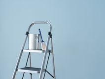 Home improvement. Preparing to paint the wall. Royalty Free Stock Photo