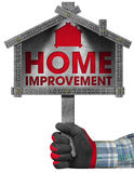 Home Improvement Sign with Meter Tool Stock Images