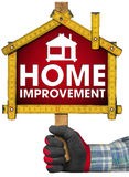 Home Improvement Sign with Meter Tool Stock Photos