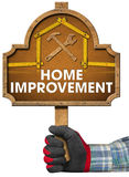 Home Improvement Sign with Meter Tool Stock Image