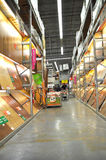 Home improvement store. Koçtaş, home improvement store, parquet section royalty free stock images