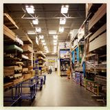 Home improvement store lumber section Stock Photos