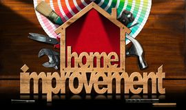 Home Improvement Symbol with Work Tools Stock Images