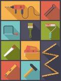 Home improvement tools Flat Icons Vector Illustration royalty free illustration