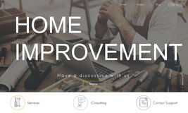 Home Improvement Website Register Button Concept Royalty Free Stock Photography