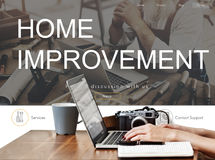 Home Improvement Website Register Button Concept Royalty Free Stock Images