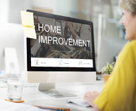Home Improvement Website Register Button Concept Stock Photography