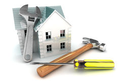 Home Improvements. A Colourful 3d Rendered Home Improvement Concept Illustration Royalty Free Stock Photos