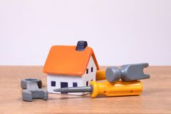 Home improvements concept with tools Royalty Free Stock Photo