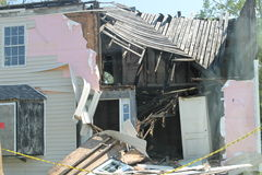 Free Home In Virginia Destroyed By Hurricane Irene 2011 Stock Image - 23143371