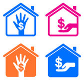 Home income stock illustration