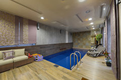 Home indoor pool Stock Photography