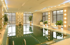 Home indoor pool royalty free stock photography